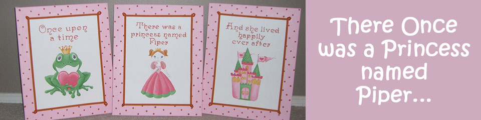 Piper's Pink Princess Paintings