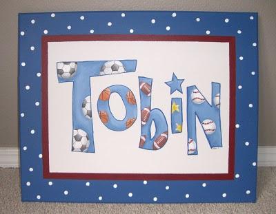 Varsity lettering for Tobin