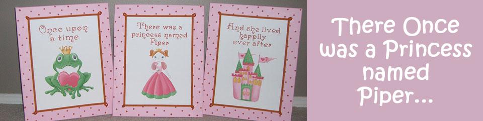 Piper's Pink Princess Paintings